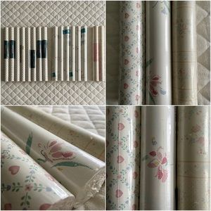 Vintage Floral Double Roll Wallpaper Wallcoverings